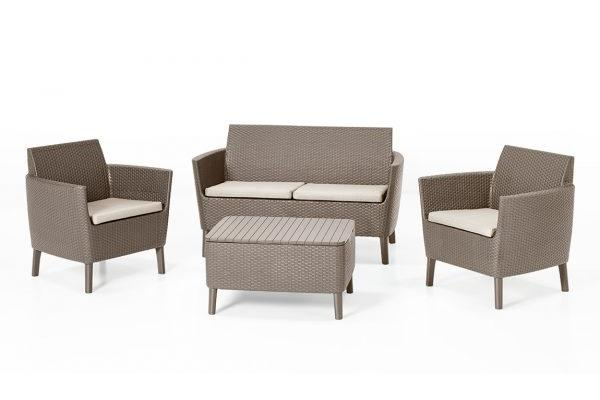 Salemo lounge set Cappuccino two seater