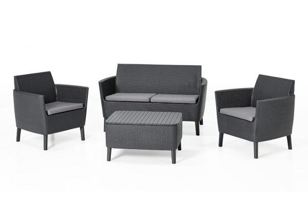 Salemo lounge set Graphite two seater