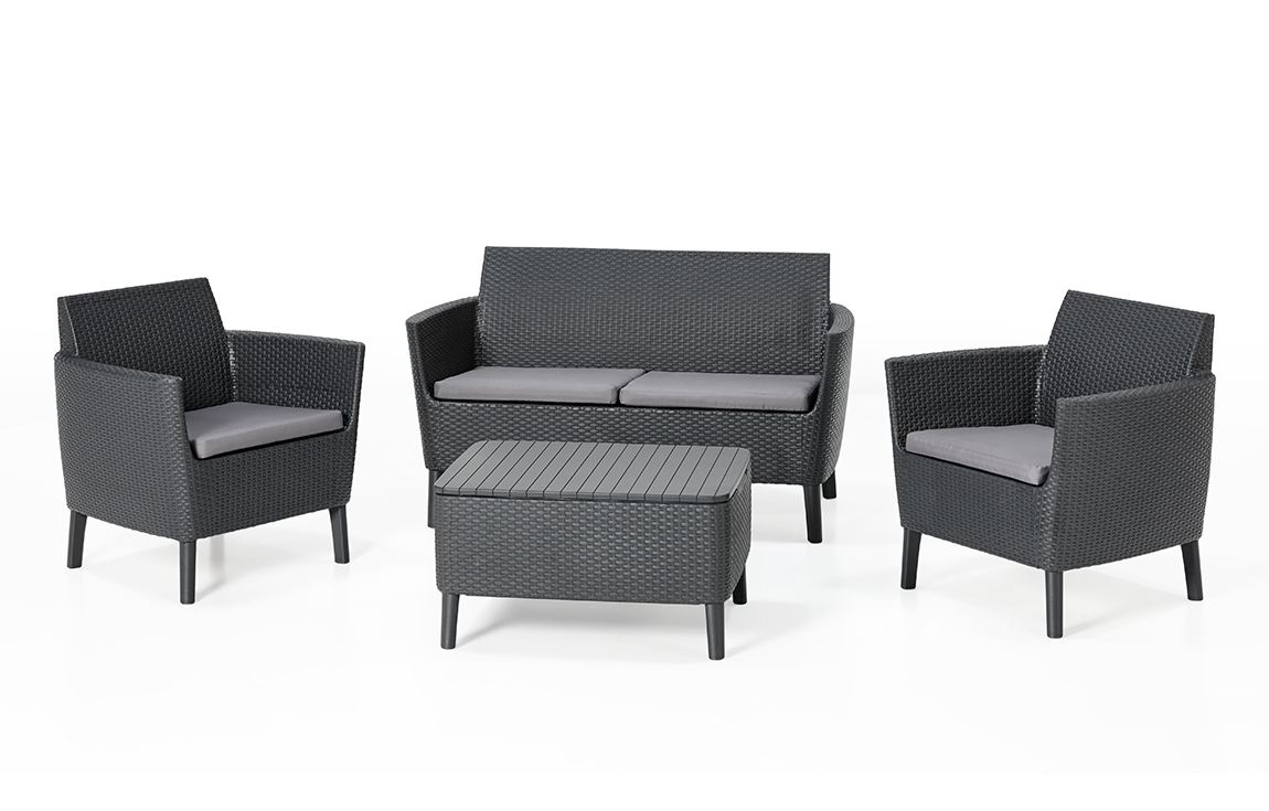 allibert salemo lounge set graphite two seater allibert. Black Bedroom Furniture Sets. Home Design Ideas