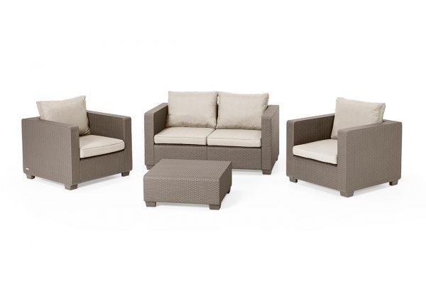 Salta lounge set Cappuccino two seater