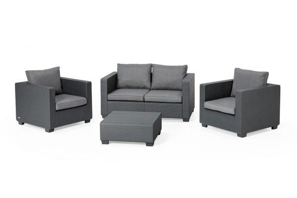 Salta Lounge Set Graphit Zweisitzer-Sofa