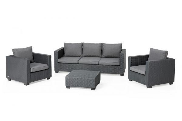 Salta Lounge Set Graphit Dreisitzer-Sofa