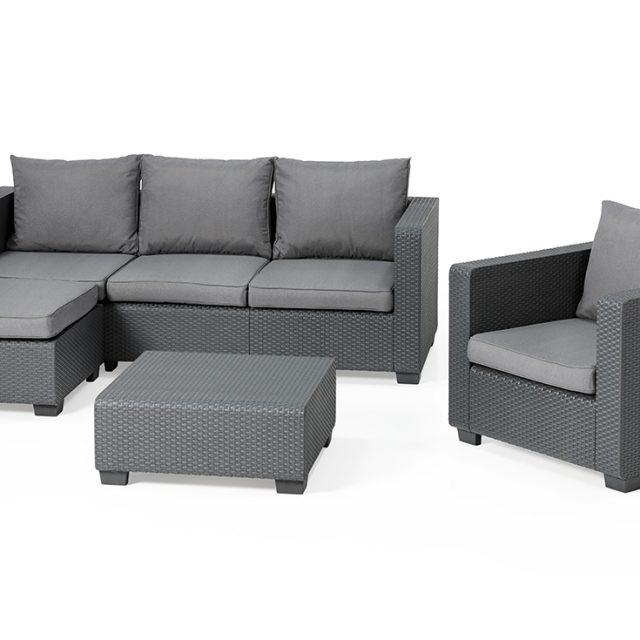 Allibert Salta Chaiselounge Set Graphit