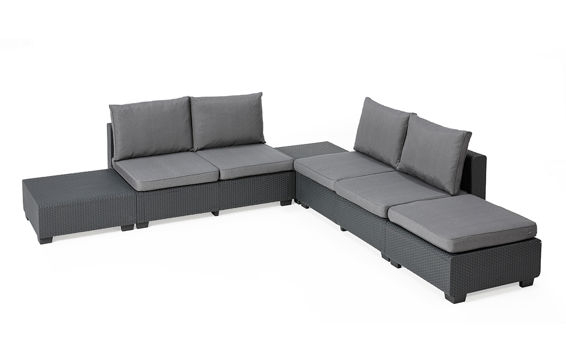 ALLIBERT Sapporo Lounge Set Graphit - Allibert