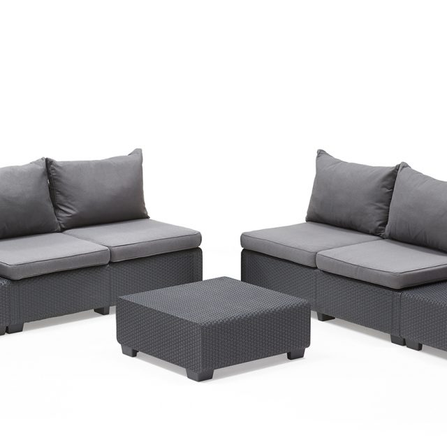 allibert sapporo lounge set graphite allibert. Black Bedroom Furniture Sets. Home Design Ideas